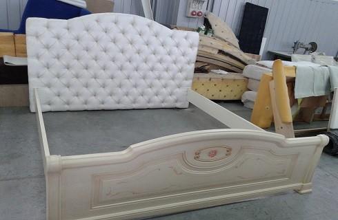 Перетяжка и ремонт кроватей - фото наших работ №4