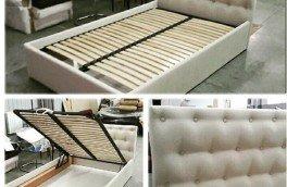 Перетяжка и ремонт кроватей - фото наших работ №23