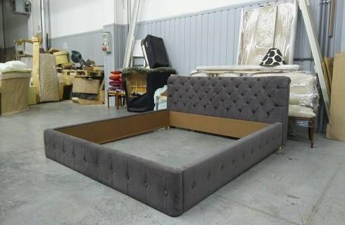 Перетяжка и ремонт кроватей - фото наших работ №3