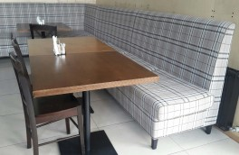 Перетяжка и ремонт ресторанной мягкой мебели - фото наших работ №6
