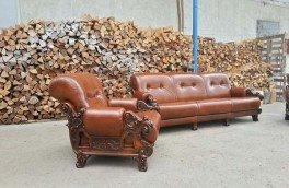 Реставрация и ремонт антикварной мягкой мебели - фото наших работ №19