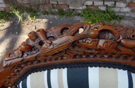 Реставрация и ремонт антикварной мягкой мебели - фото наших работ №18
