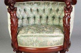 Реставрация и ремонт антикварной мягкой мебели - фото наших работ №14